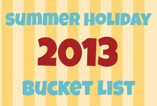 summer holiday bucket list badge