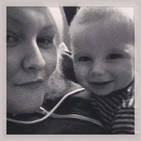 Little Mr and mummy selfie