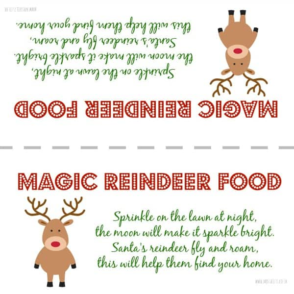 Reindeer food template tiredriveeasy reindeer food template forumfinder