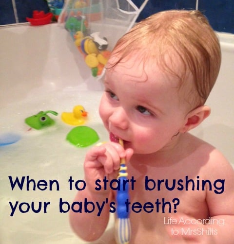 when to start brushing your little ones teeth?