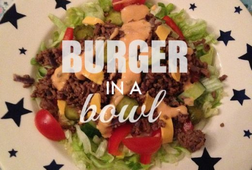 burger in a bowl