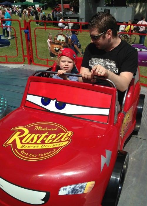 Disney Cars fairground ride