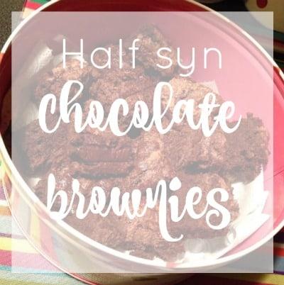 Slimming World Half A Syn Chocolate Brownies Life