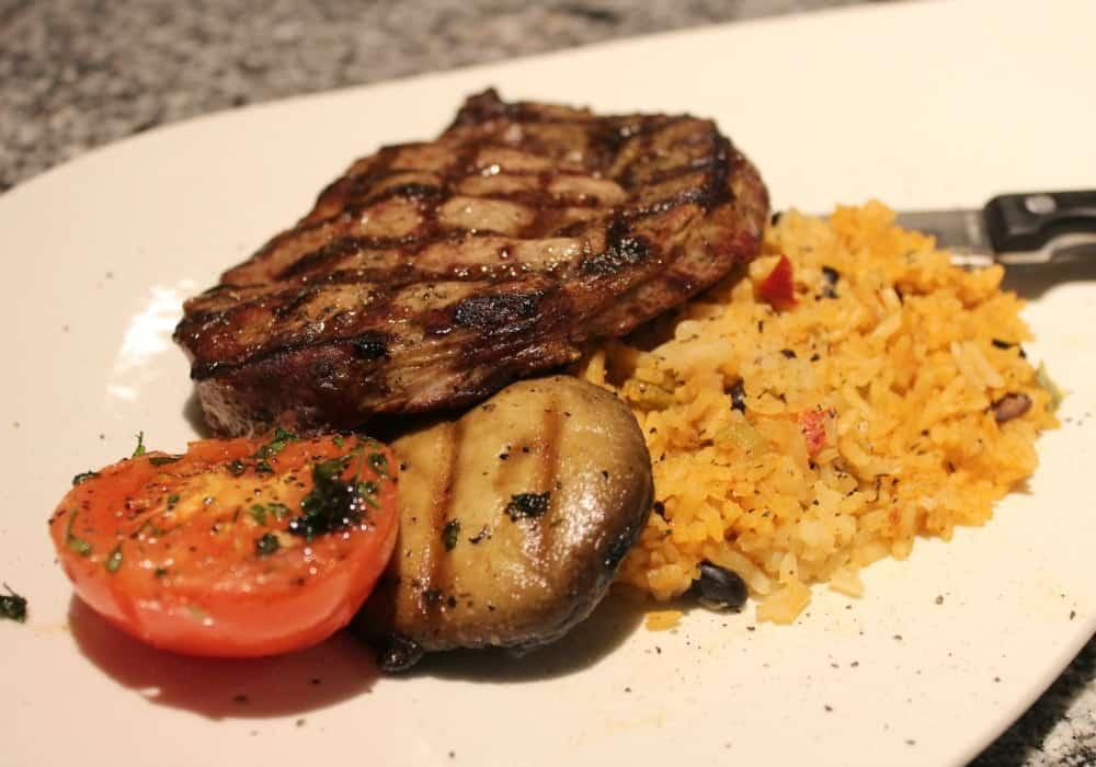 rib eye steak dirty rice