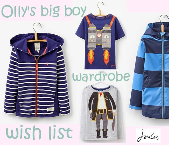 Joules bog boy wishlist