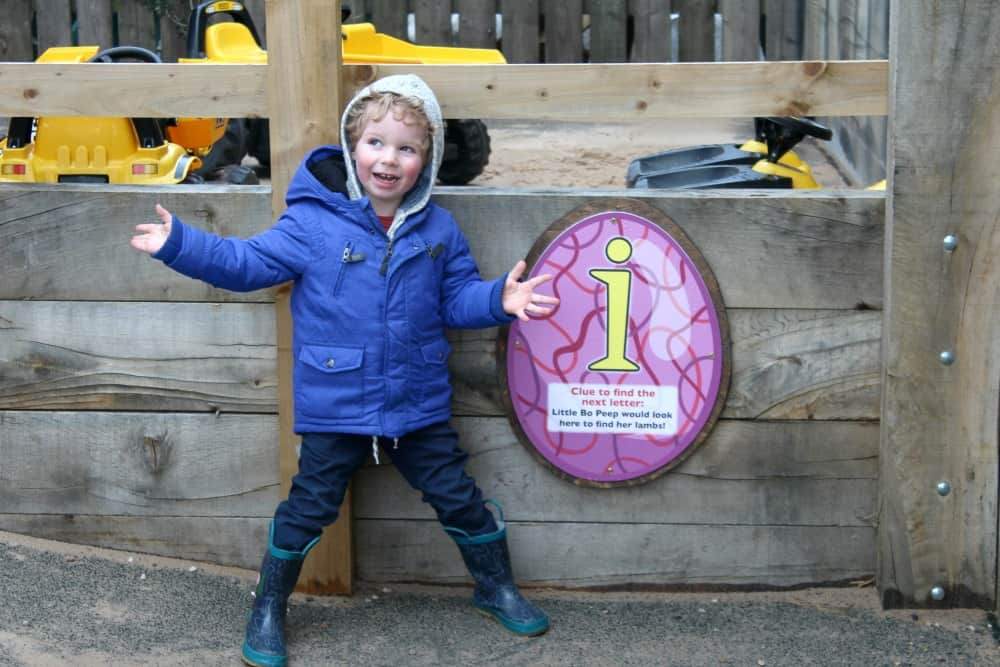 National Forest Adventure Farm Easter Egg Letter Hunt