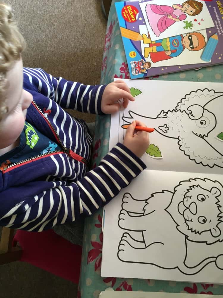 Orchard Toys sticker colouring books