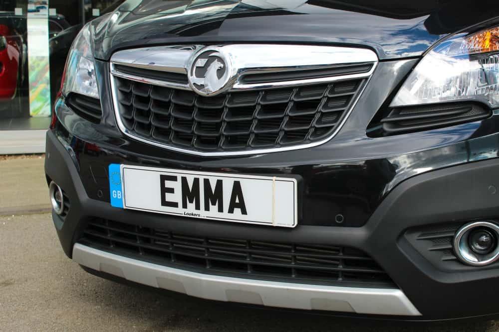 EMMA number plate