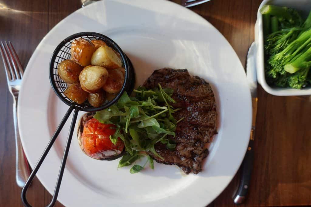 Steak and New Potatoes