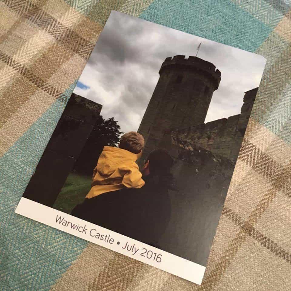 Warwick Castle postcard