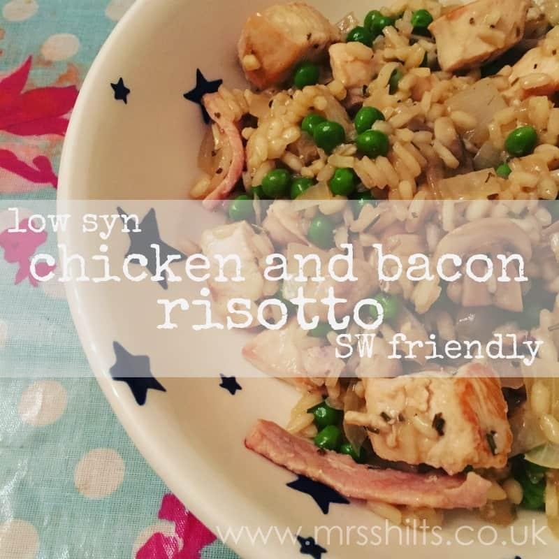 Slimming World chicken bacon risotto