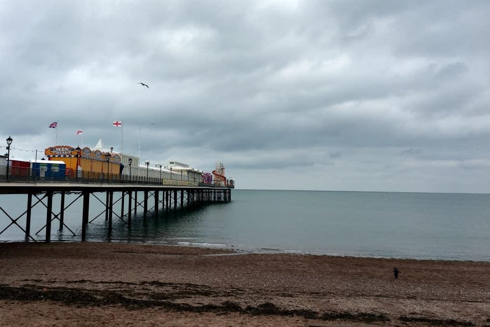 Paignton beach pier sea