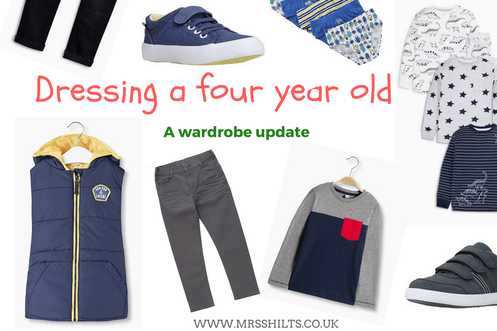 Dressing a four year old
