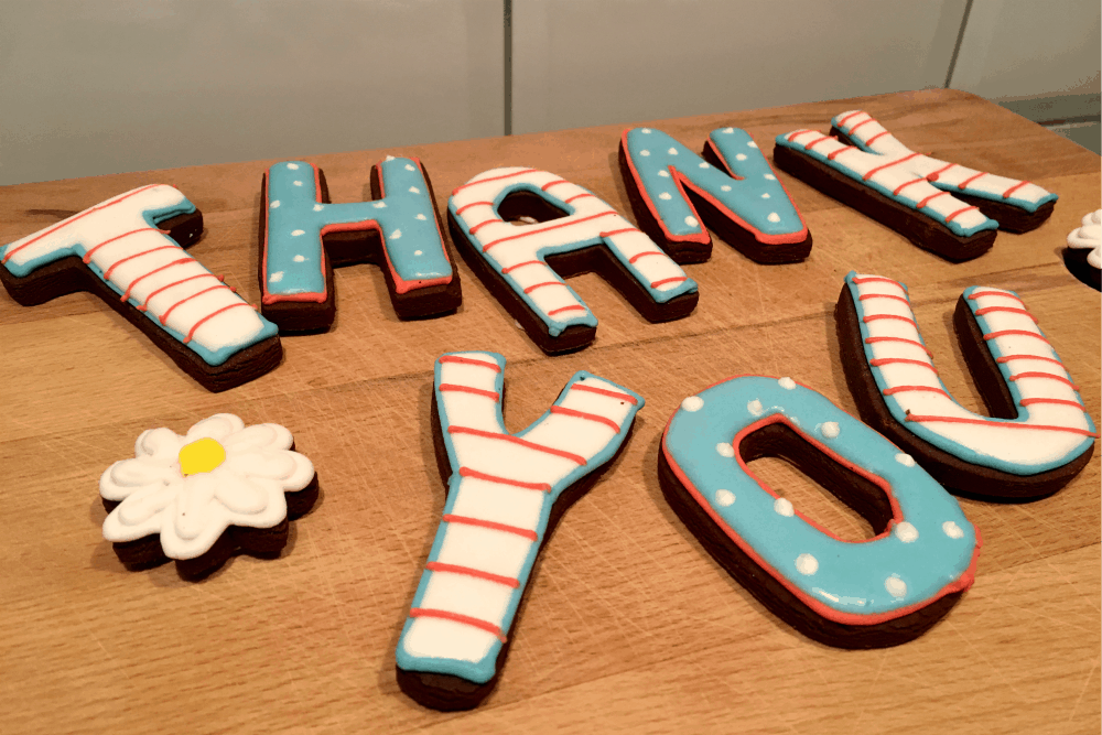 Biscuiteers Thank you biscuits