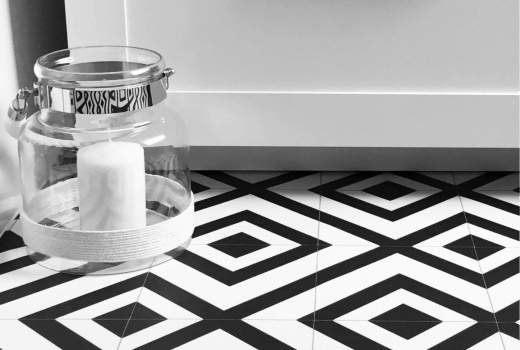 Mardi Gras vinyl flooring carpetright monochrome