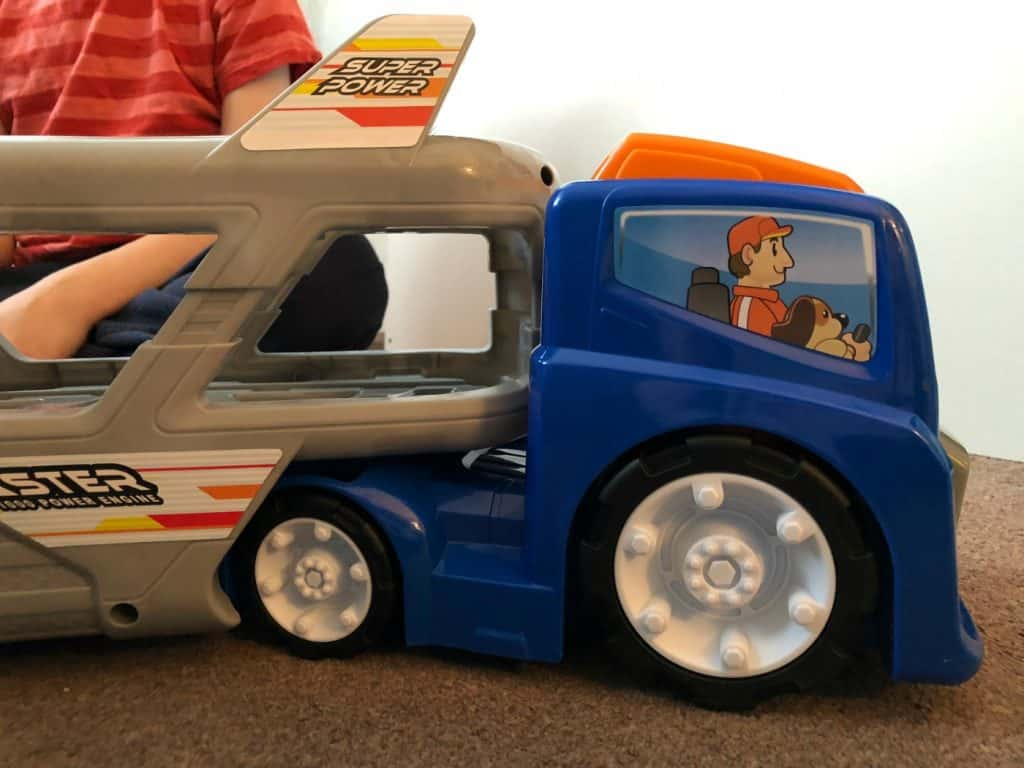 Big Steps Vroom Super Car Transporter from Smyths Toys 6