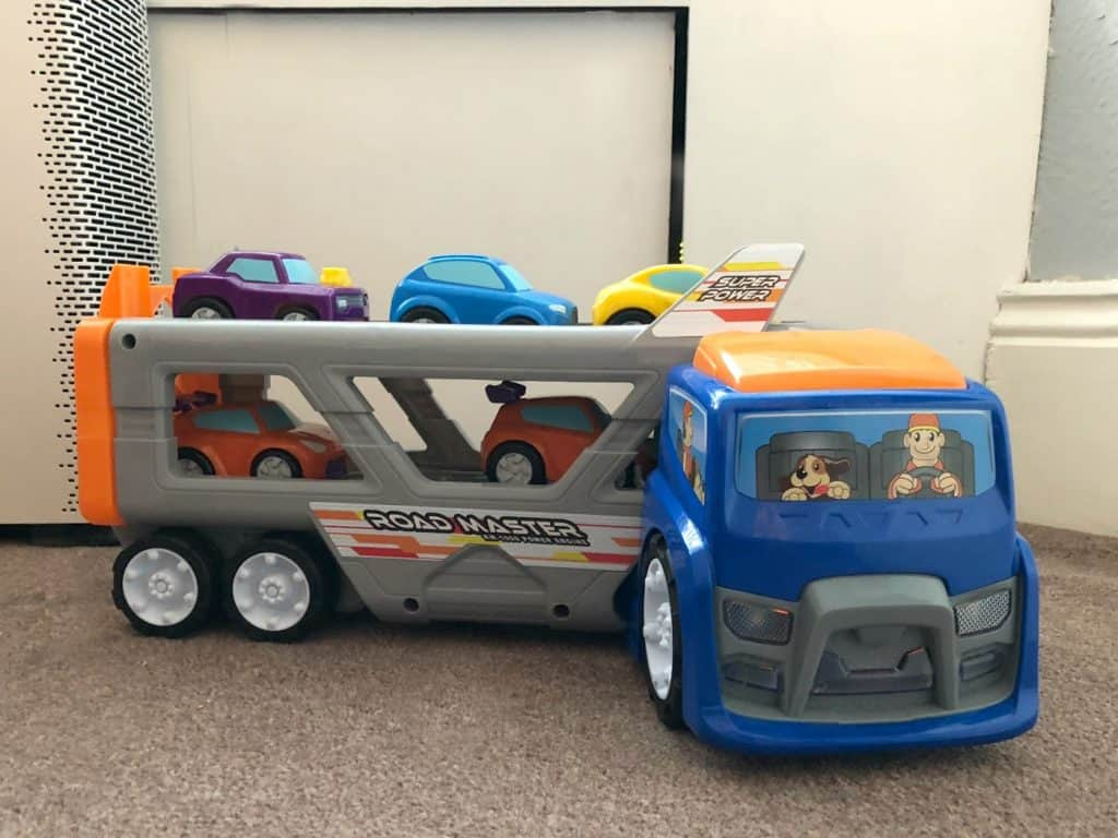 Big Steps Vroom Super Car Transporter from Smyths Toys 7