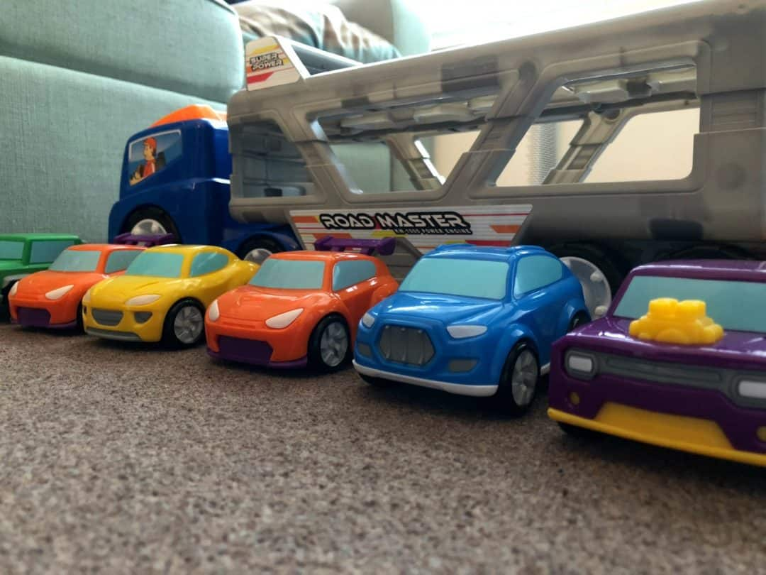 Big Steps Vroom Super Car Transporter from Smyths Toys