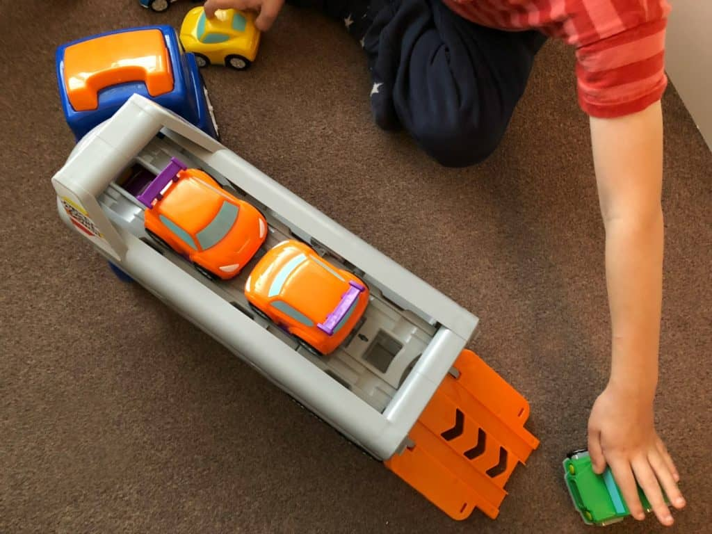 Big Steps Vroom Super Car Transporter from Smyths Toys 4