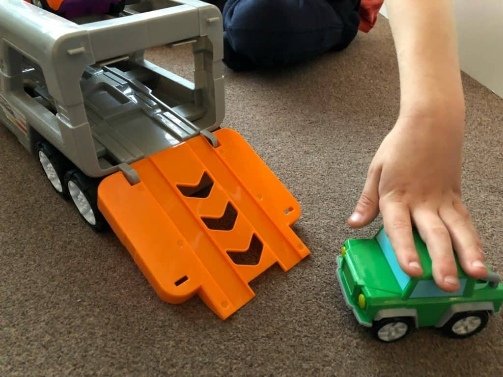Big Steps Vroom Super Car Transporter from Smyths Toys 5