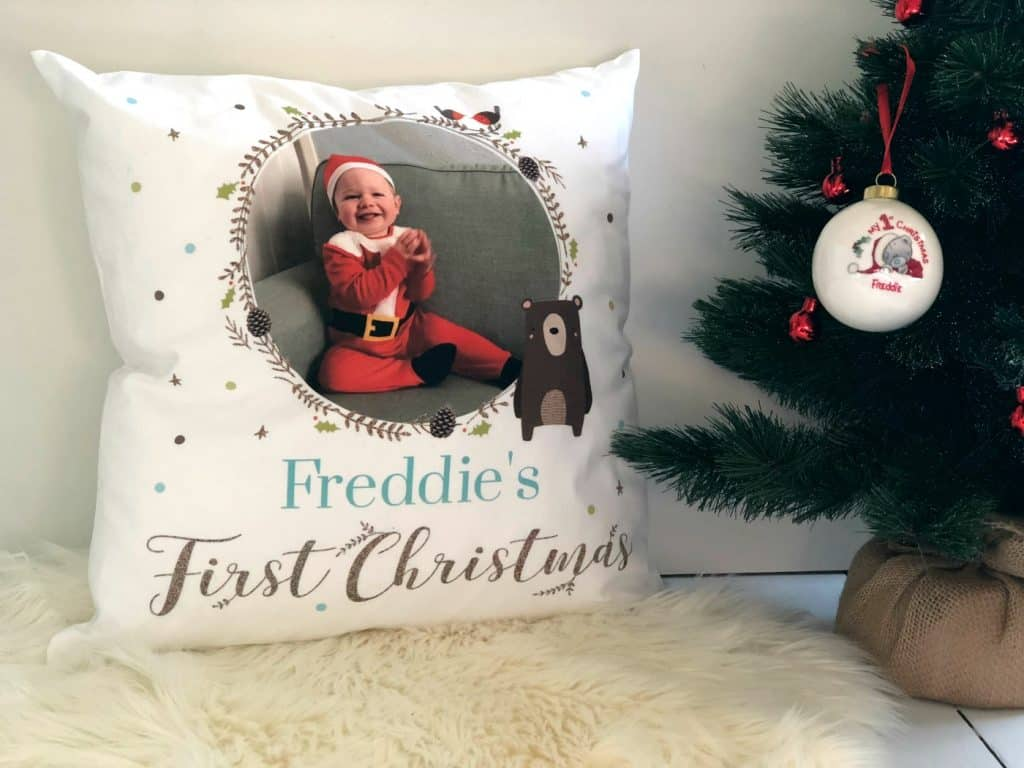 Baby's First Christmas Bauble Cushion