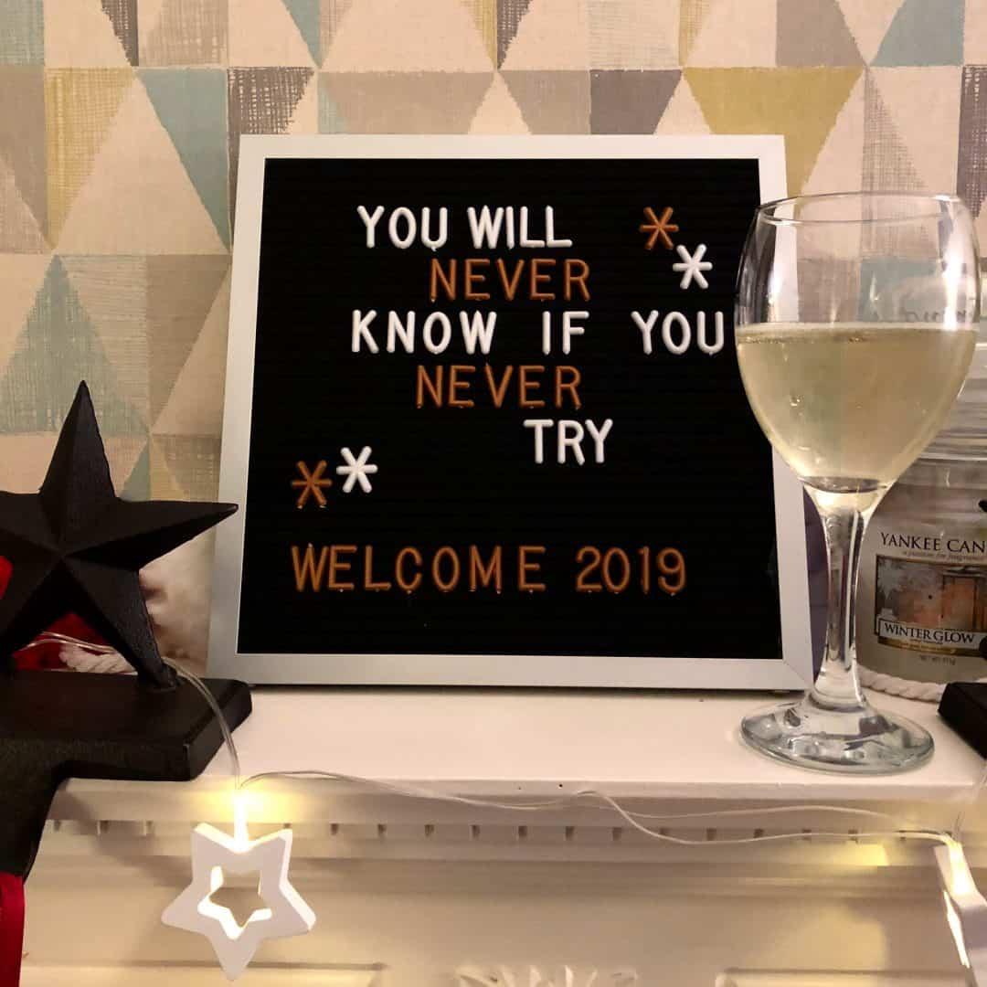 2019 letterboard