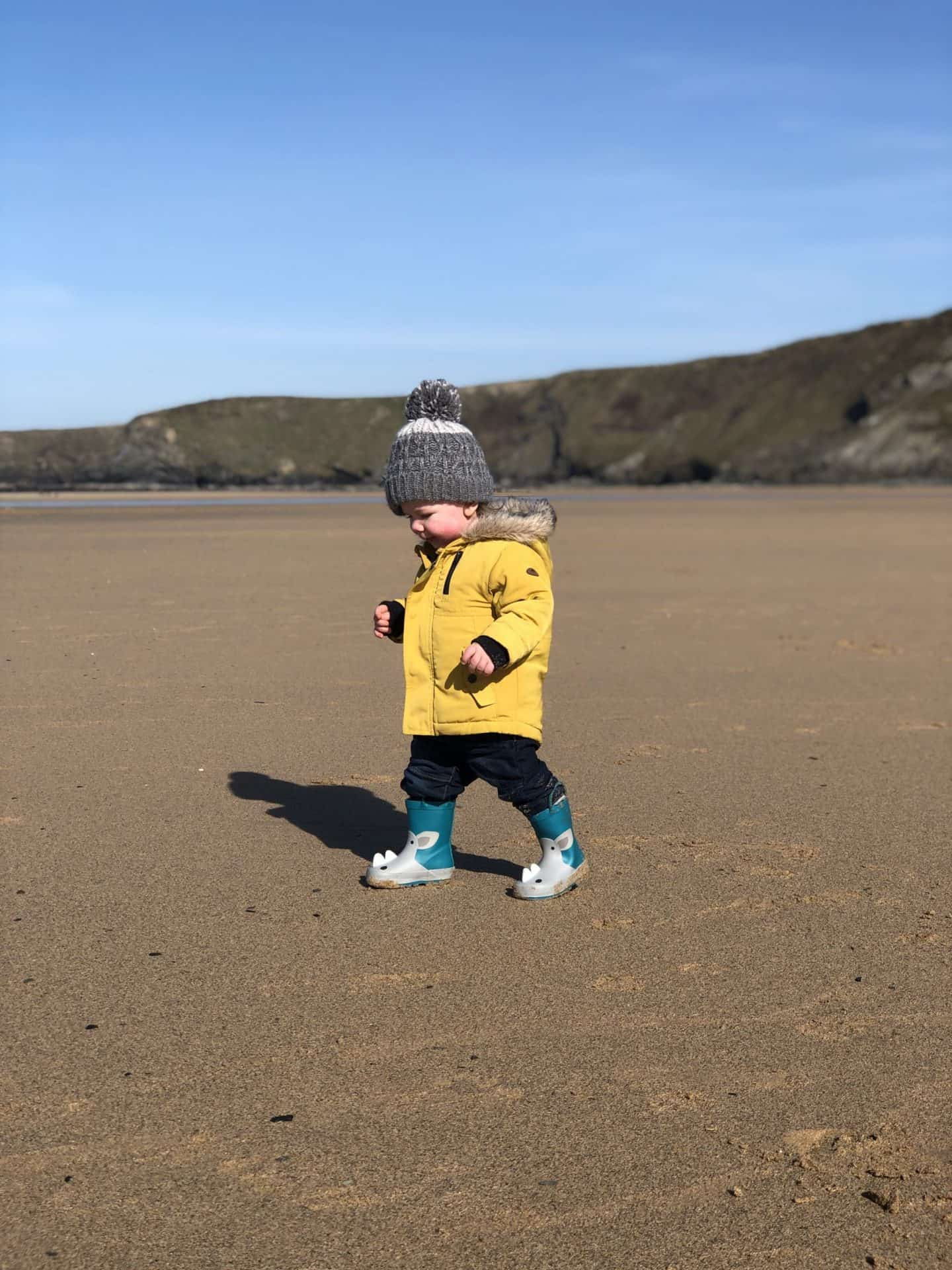 Boy Beach Toddler Wellies