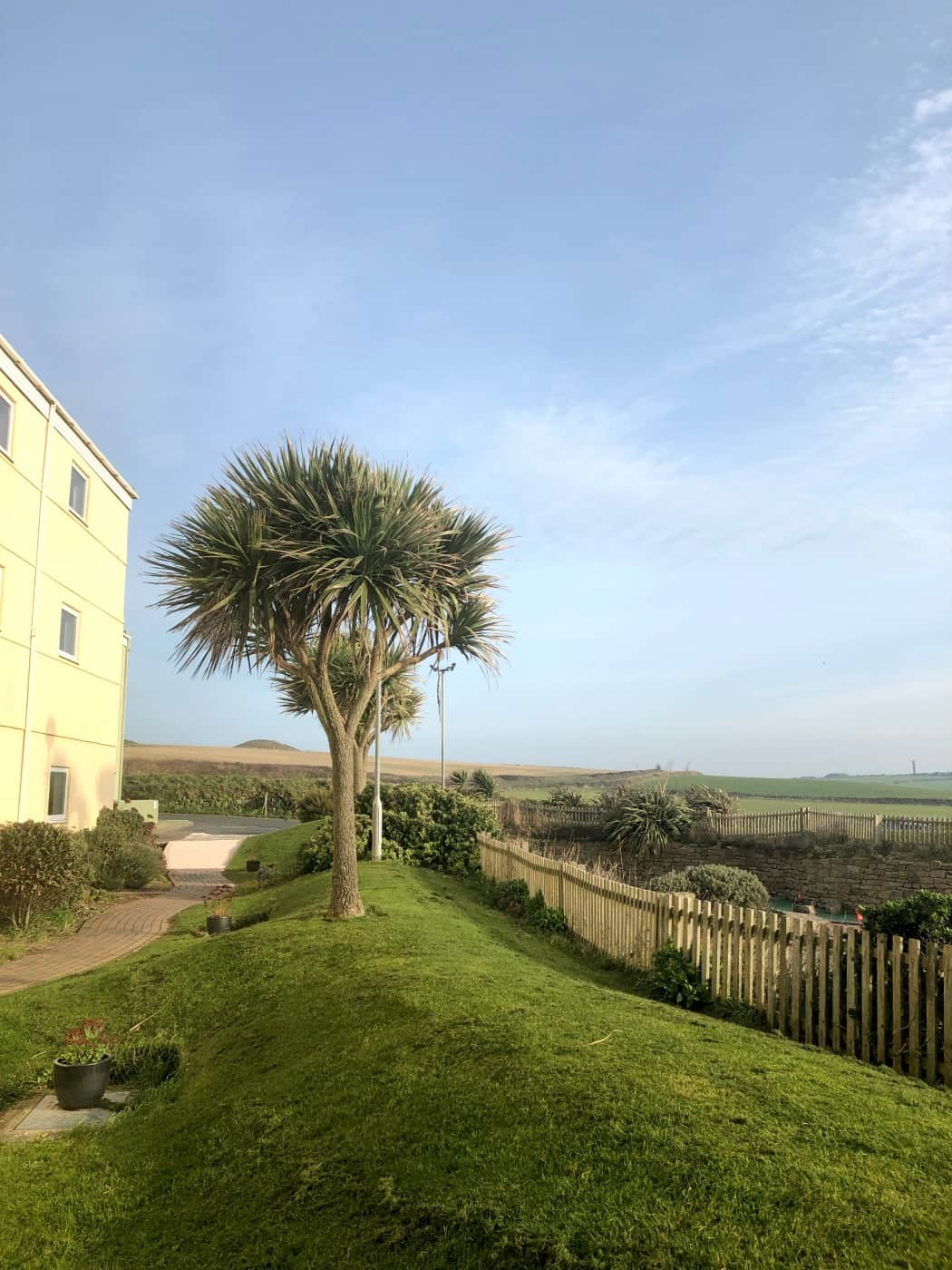 Rear view of Sands Resort Hotel and Spa, Newquay Cornwall
