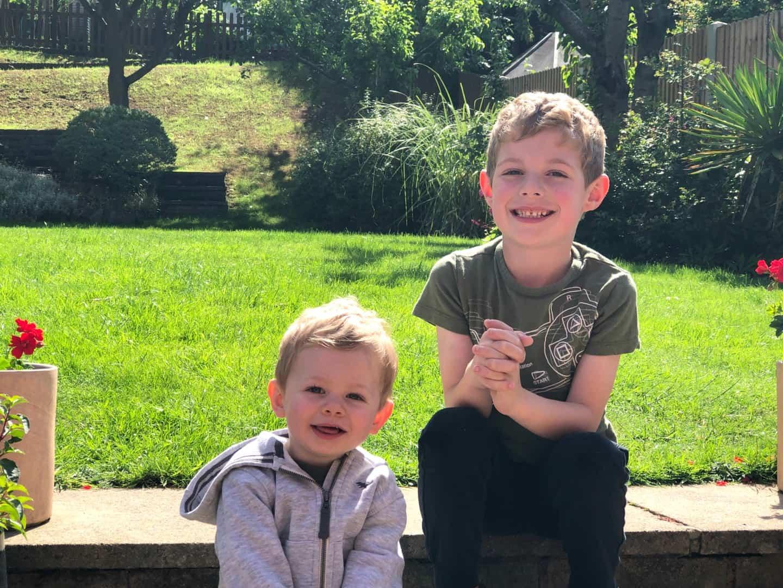 Shilton boys in June 2019