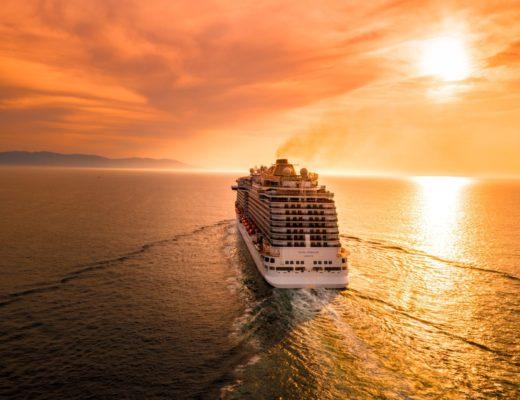 Cruise ship sunset travel